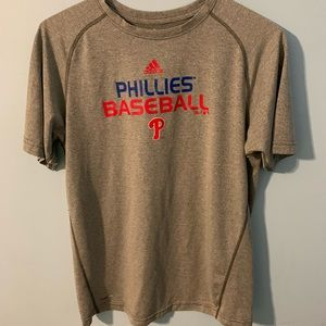 adidas Shirts - Phillies Baseball Adidas T-Shirt Gray Size Men XL